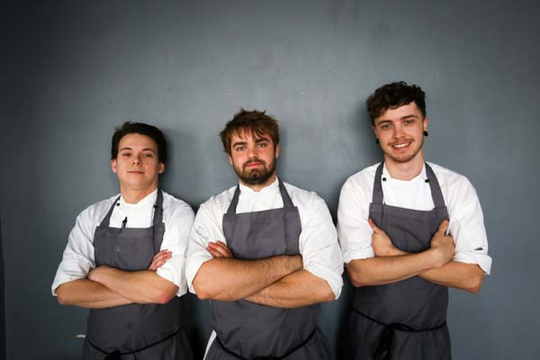 Isaac Bartlett-Copeland and his team of chefs in Brighton
