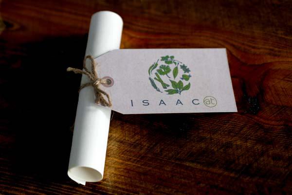 Table place card at Isaac At