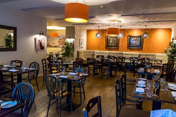 Restaurant interior, The Talbot, Cuckfield