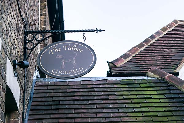 Outside sign, The Talbot