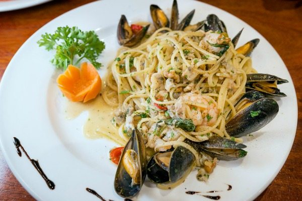 seafood linguine at al duomo in brighton