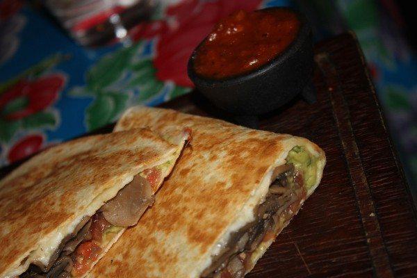 mushroom quesadilla at carlito burrito mexican brighton restauarnt