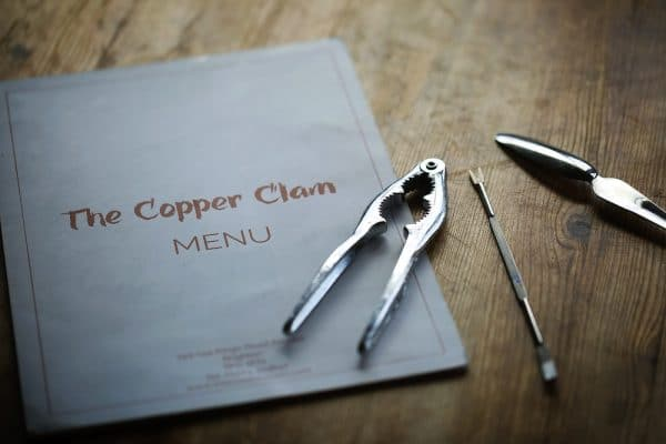Copper Clam Menu Brighton