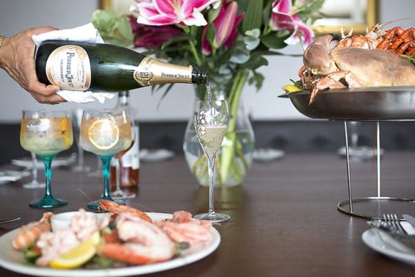 Christmas parties Brighton, Copper clam, seafood, restaurant, Brighton, seafront, champagne, private dining