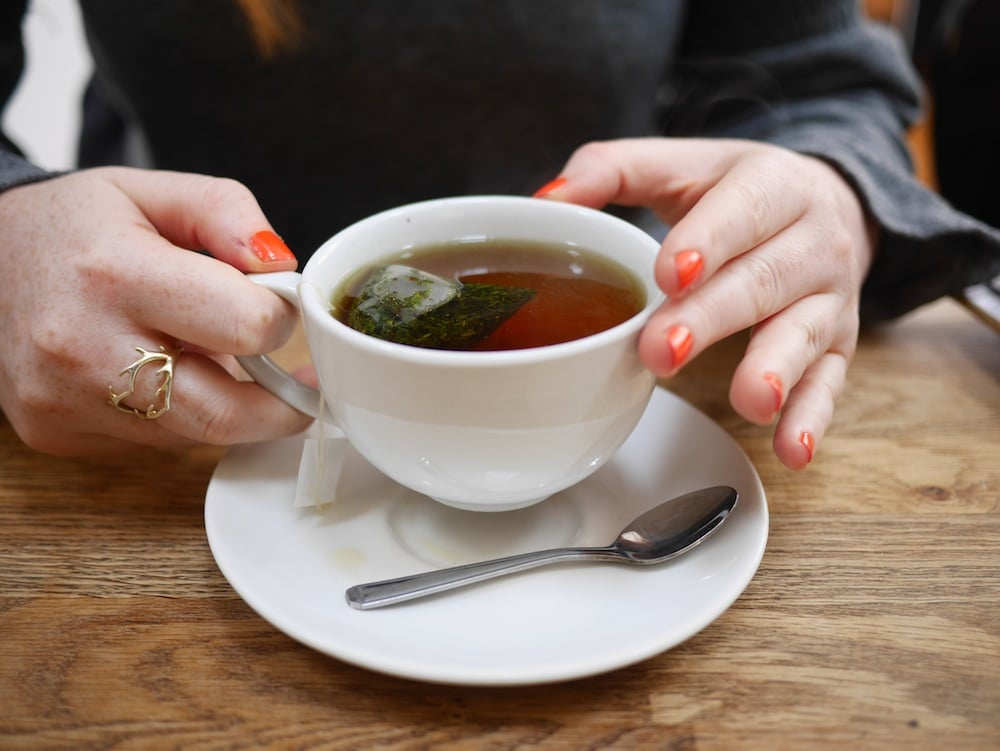 Peppermint Tea at Kooks in Brighton