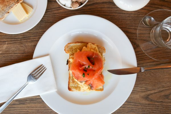 Limes of Lindfield salmon and eggs