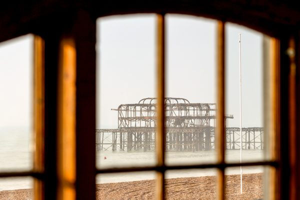 View of Brighton West Pier