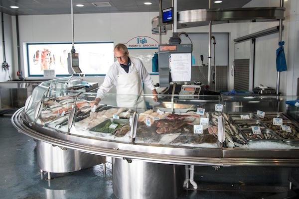 Fish counter - Brighton & Newhaven Fish Sales, Brighton, Shoreham Harbour