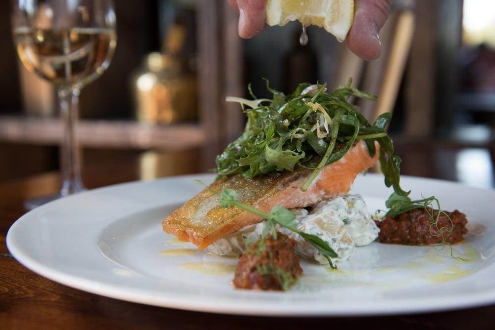 Salmon Dish at Ladies Mile Brighton