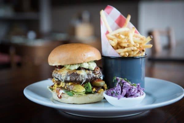 Burger at Ladies Mile Brighton