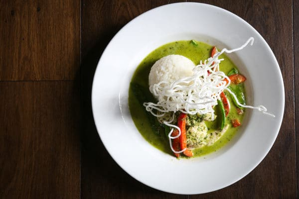 Thai Green Curry from Above