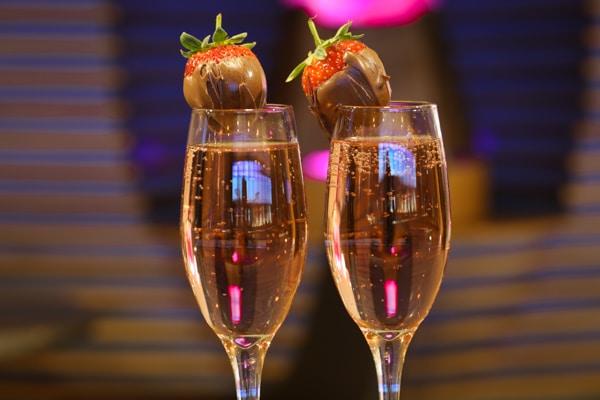 Champagne flutes - Valentine's Day Restaurants in Brighton