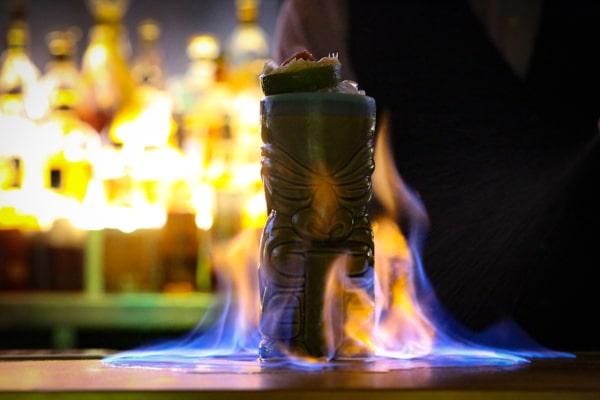 Cocktail on fire - Merkaba, cocktail bar, Brighton, MyHotel, MyBrighton