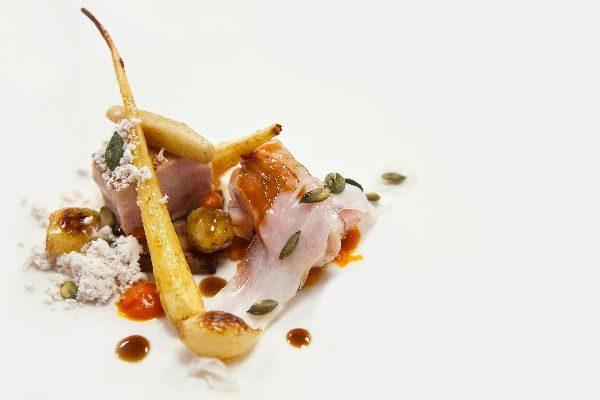 Pork dish by Matt Gillan, Chef, Brighton