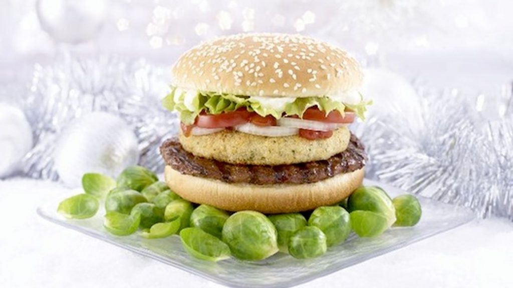 Christmas Food Facts - The brussell spout whopper burger