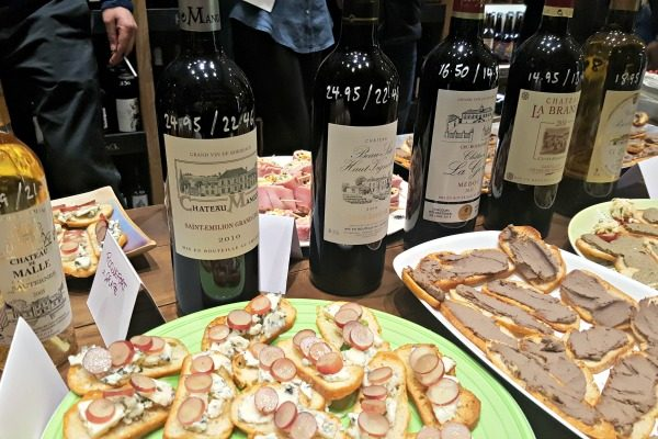 canapes-and-wine at seven cellars