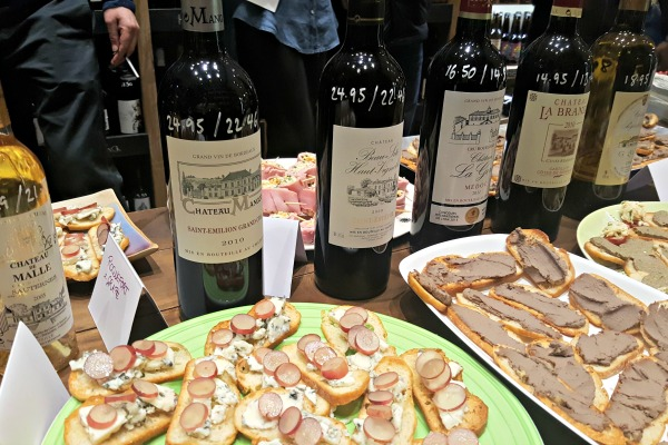 Drinks review bordeaux wine tasting seven cellars wine for Canape wines