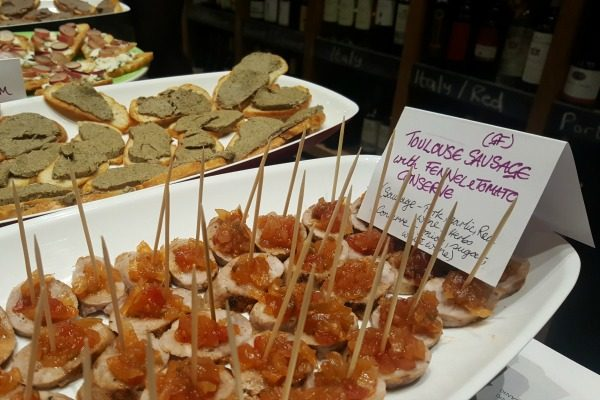 canapes at seven cellars