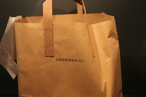 bag from coggings and co for delievroo
