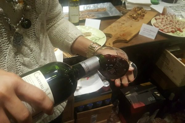 pouring-wine at seven cellars