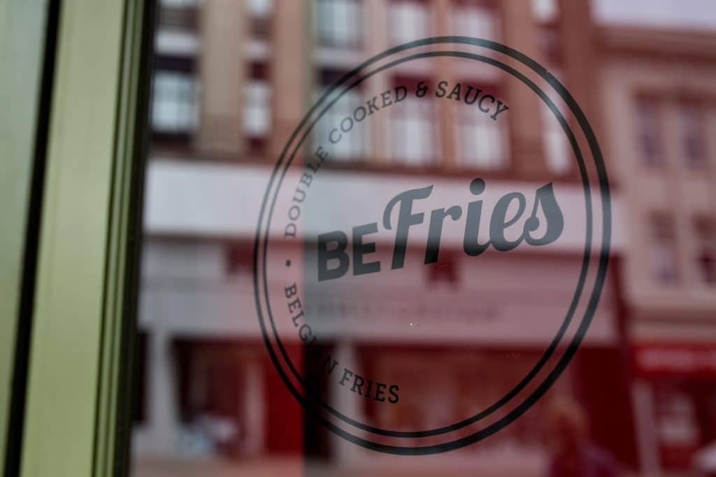 BeFries Brighton window Sticker