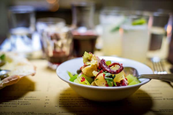 Octopus salad at Polpo Restaurant in Brighton