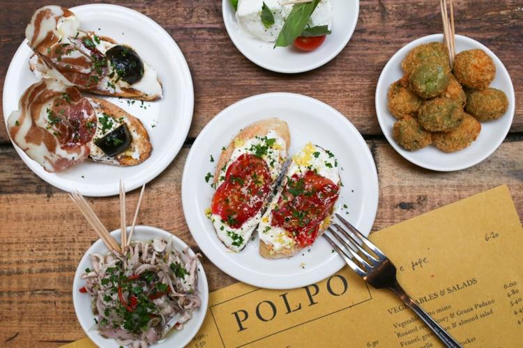 Polpo Venetian tapas Brighton - Restaurants near me Brighton