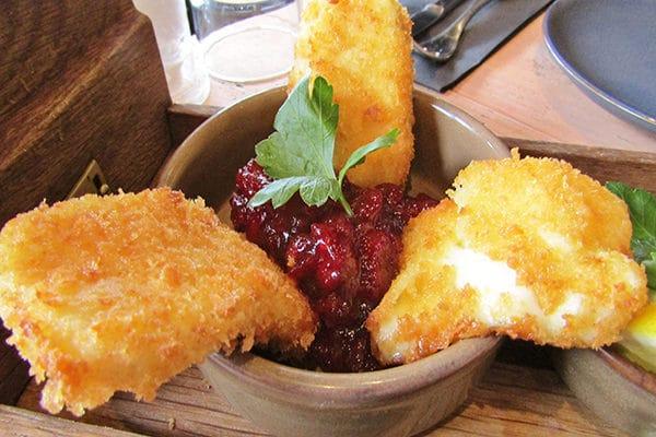 Libation, Hove, Sunday Roast Review, Breaded Halloumi