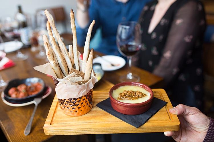Café Malbec Hove, tapas & wine, Hove, restaurant, cheese, breadsticks