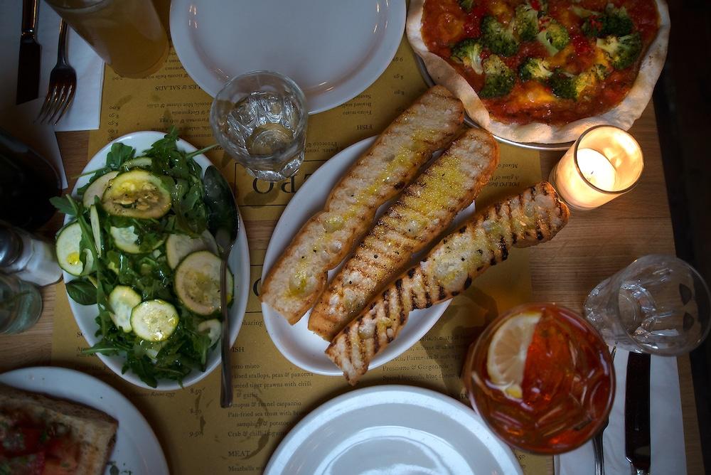 Food spread at Polpo in Brighton