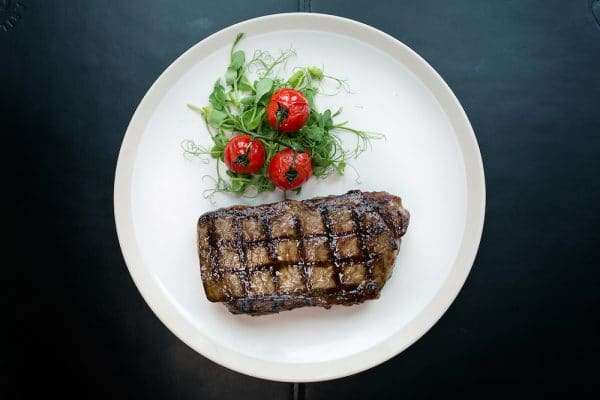 Steak from above