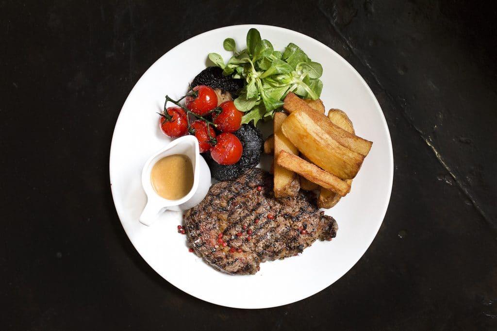 Steak at The Black Lion Pub