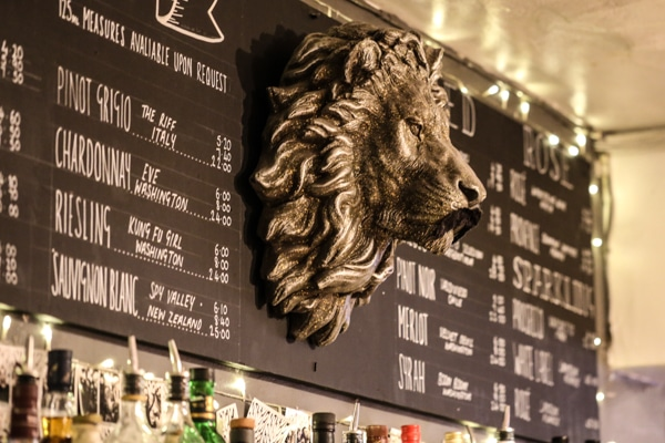 The Lion. Known for its cocktails and one of the best cocktail bars in Brighton - Cocktail Bars Brighton
