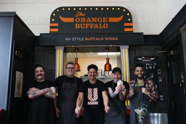 The winning team at the Orange Bufffalo - Best Pub Grub in Brighton