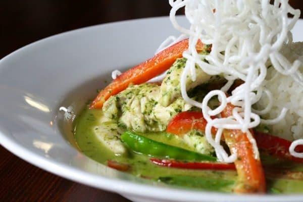 thai green curry at the ladies mile pub