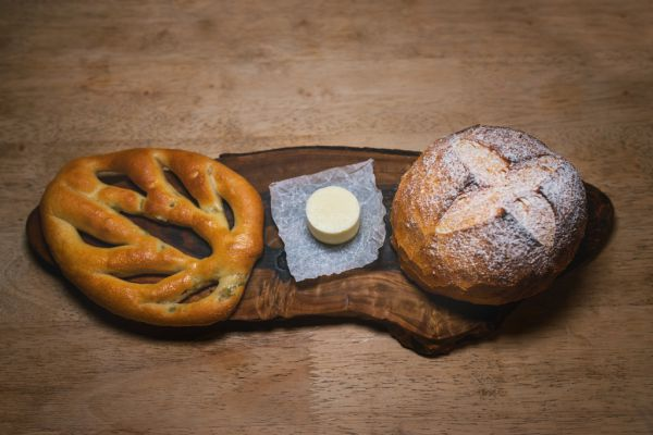 Homemade breads and butter at LIttle Fish Market