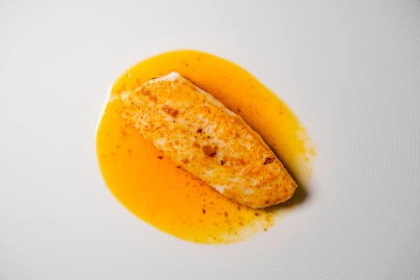 Brill in paprika butter