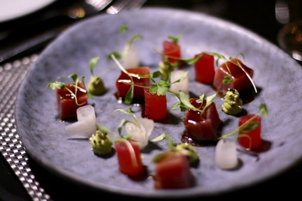Tuna tartare with watermelon