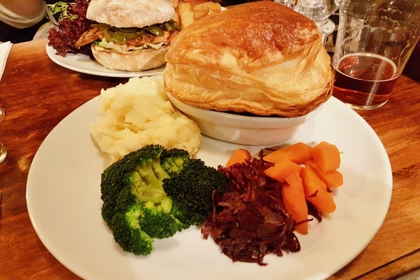 steak and ale pie at the plough inn