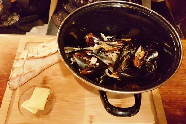 mussels at the plough inn
