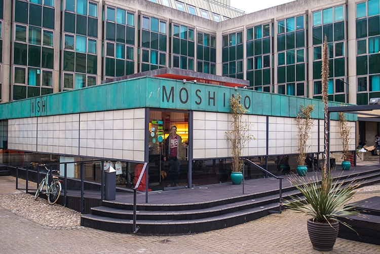 Moshimo, Japanese Restaurant, Brighton, Vegan Review, Outside Sign