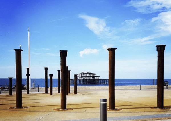 Views of the West Pier from Murmur restaurant Brighton