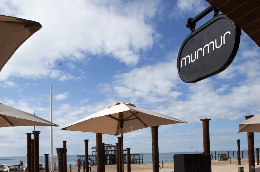 outside terrace at Murmur Restaurant, Brighton