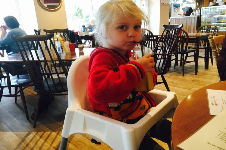 child at cherry tree cafe