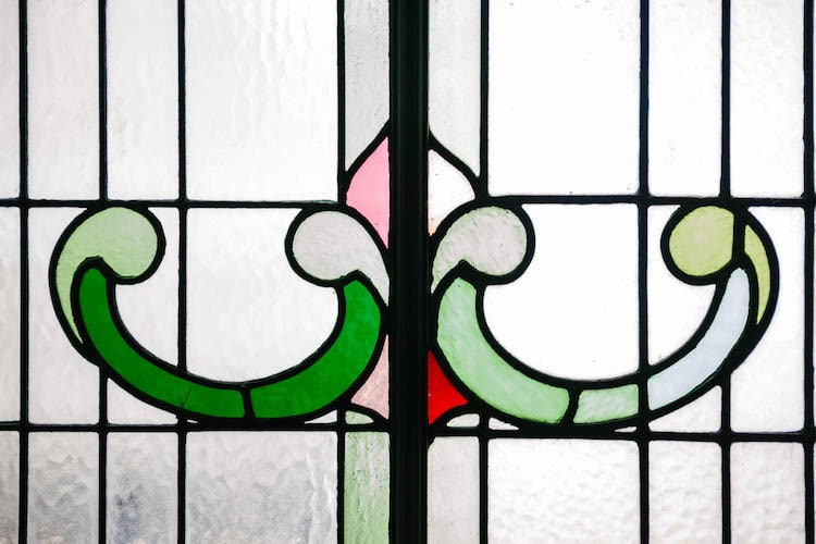 Stained glass - Old Albion Hove
