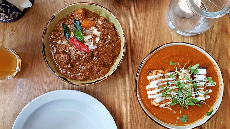 Curry Leaf Kemptown Mutton and Paneer Curries, Indian restaurant, gluten free restaurants Brighton,