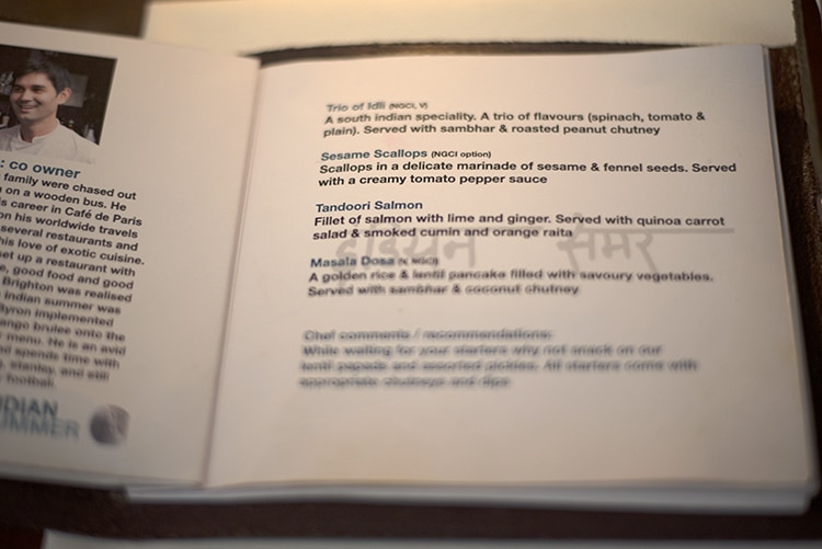 Menu, Review, Restaurant, Brighton