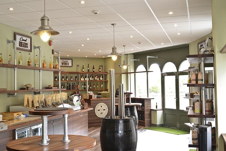 Great British Charcuterie, shop interior, Marina , Brighton