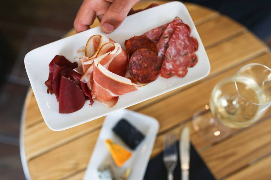 Salami and cured meats at Great British Charcuterie