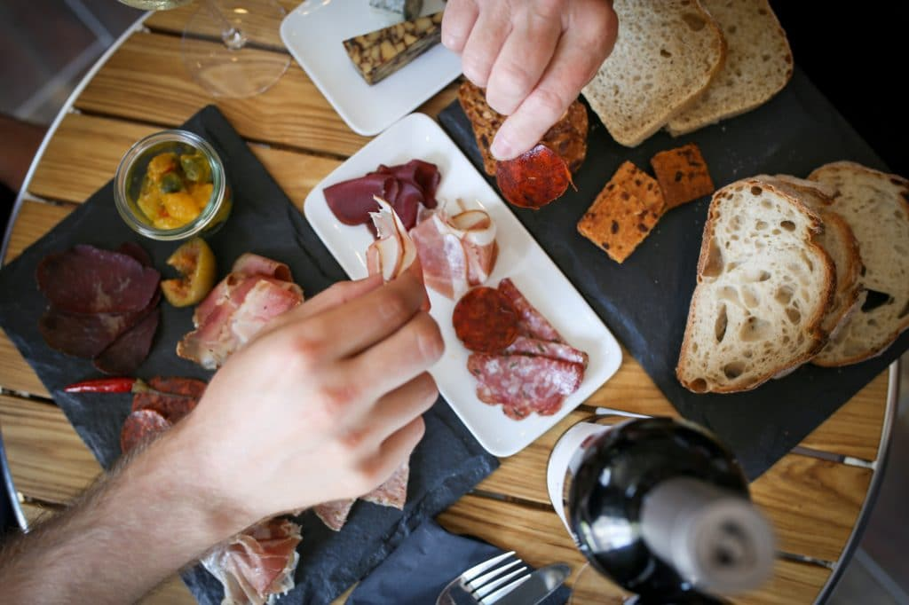 Sharing platter at Great British Charcuterie, food pubs Brighton